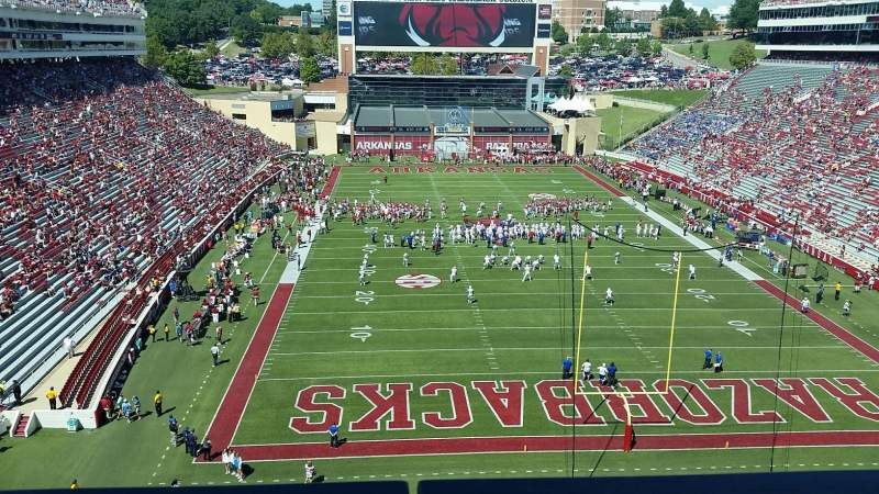 Seating view for Razorback Stadium Section 483 Row 1