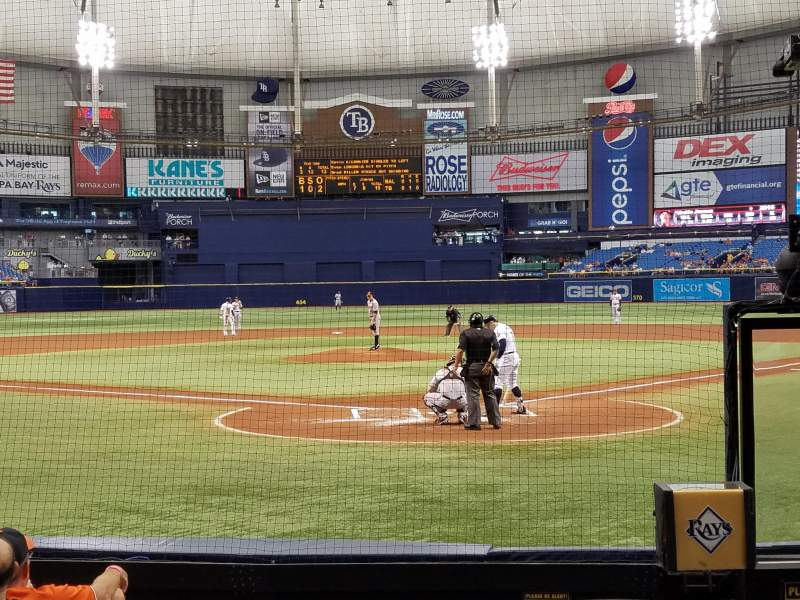 Seating view for Tropicana Field Section 101 Row L Seat 2