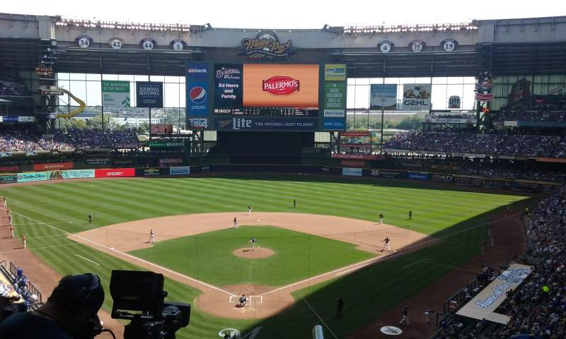 Seating view for Miller Park Section 329 Row 4 Seat 4