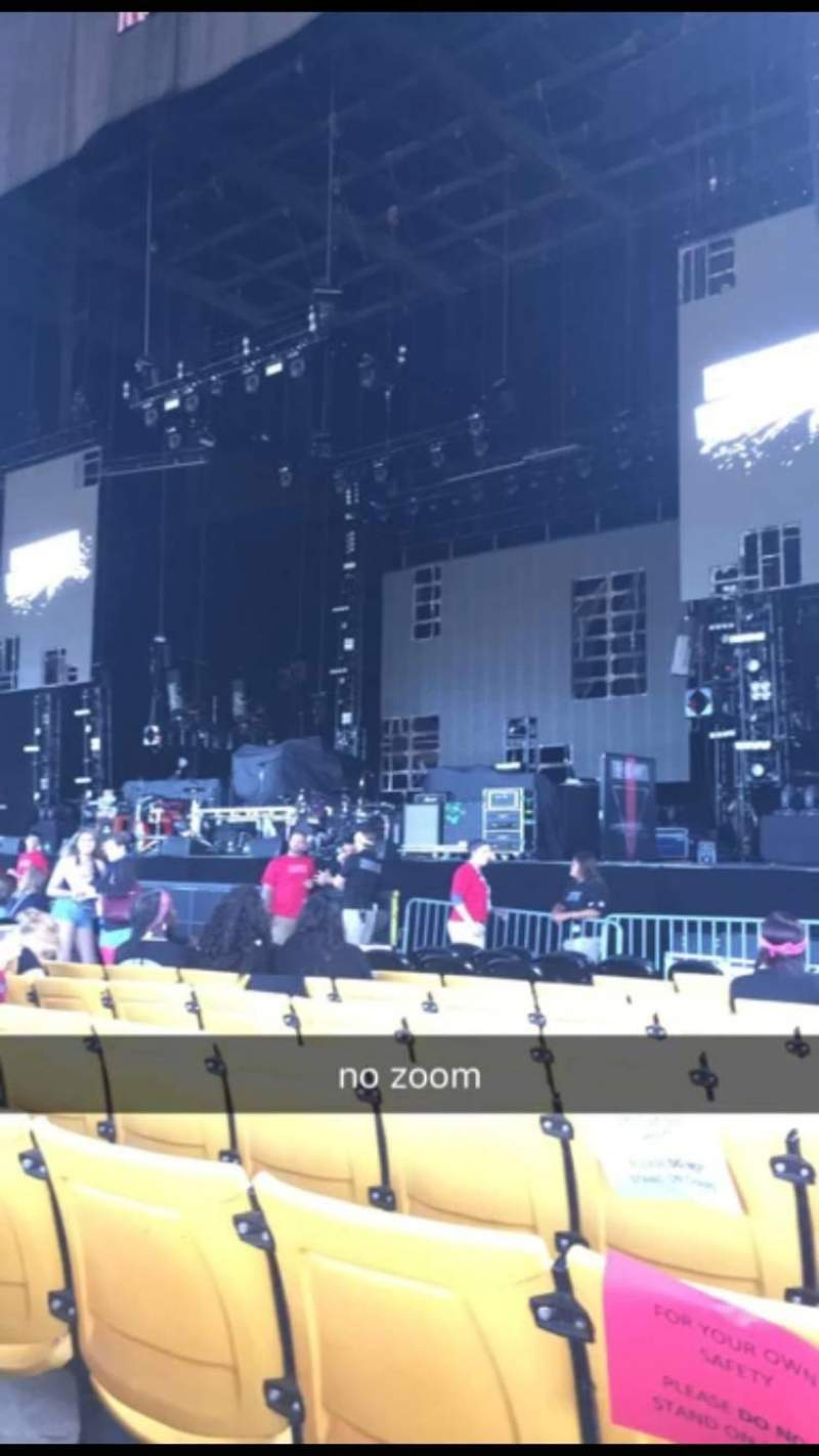 Seating view for Hollywood Casino Amphitheatre (Tinley Park) Section 102 Row K Seat 9