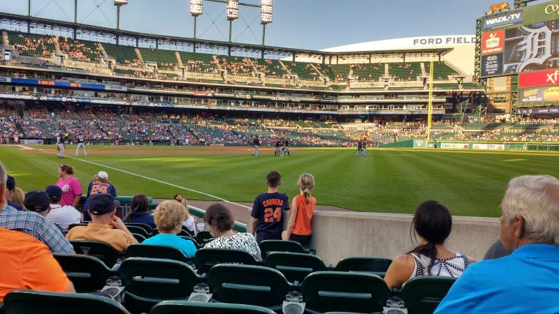 Seating view for Comerica Park Section 113 Row 9 Seat 12
