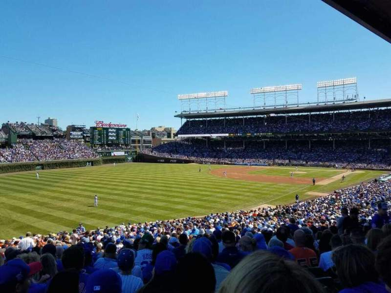 Seating view for Wrigley Field Section 202 Row 18 Seat 112