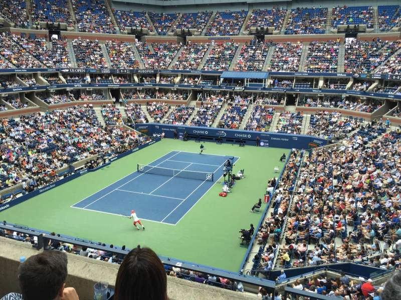 Seating view for Arthur Ashe Stadium Section 121 Row C Seat 9