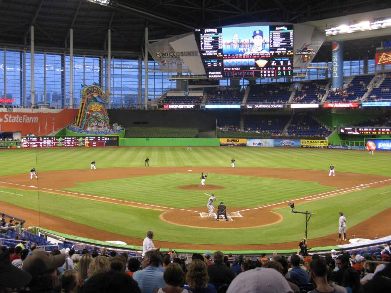 Seating view for Marlins Park Section 15 Row 14 Seat 9