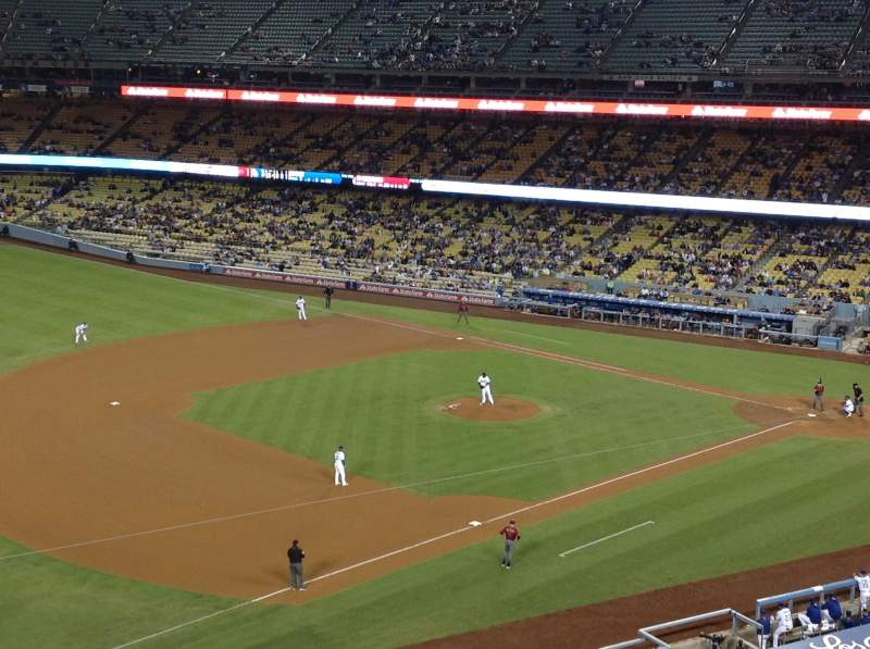 Seating view for Dodger Stadium Section 31RS Row B Seat 13