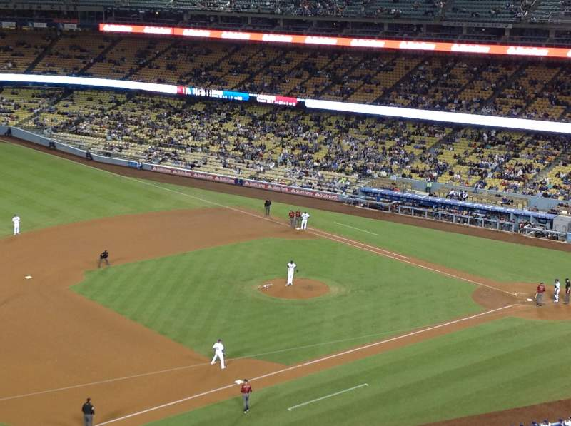 Seating view for Dodger Stadium Section 27RS Row L Seat 21