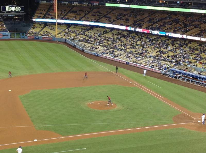 Seating view for Dodger Stadium Section 19RS Row F Seat 18