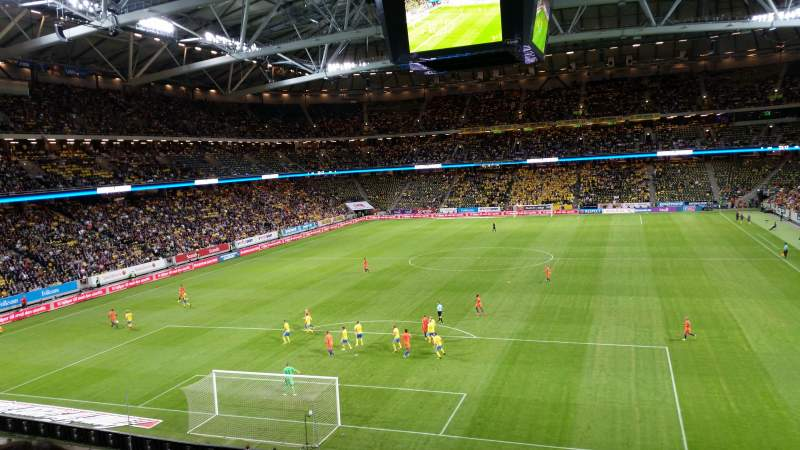 Seating view for Friends Arena Section 222 Row 4 Seat 189