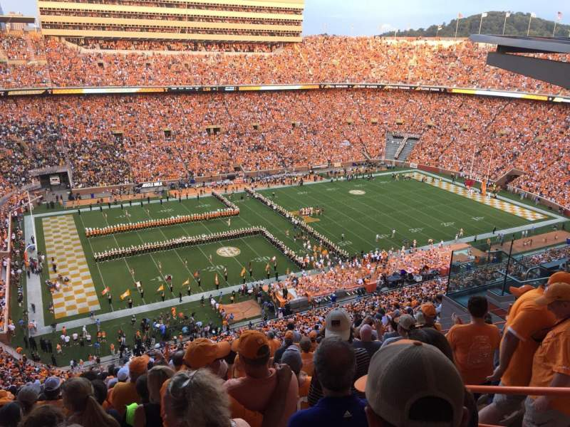Seating view for Neyland Stadium Section XX1 Row 23 Seat 18