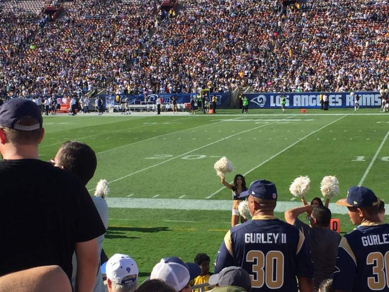 Seating view for Los Angeles Memorial Coliseum Section 4L Row 12 Seat 1