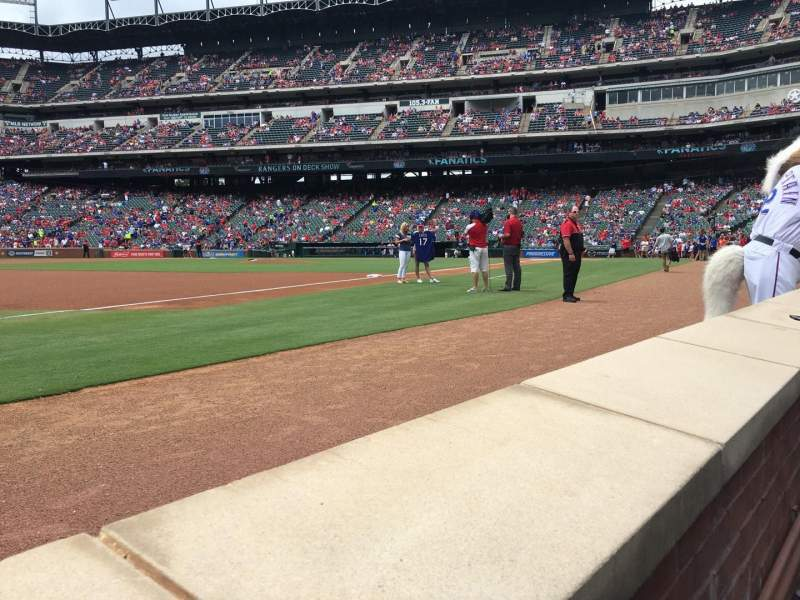 Seating view for Globe Life Park in Arlington Section Combx3 Seat 8