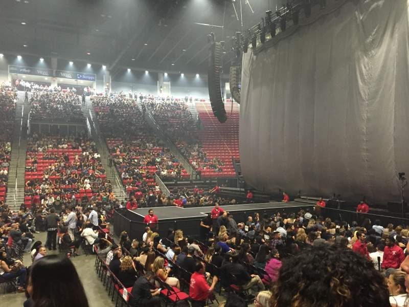 Viejas Arena, section: F, row: 7, seat: 14