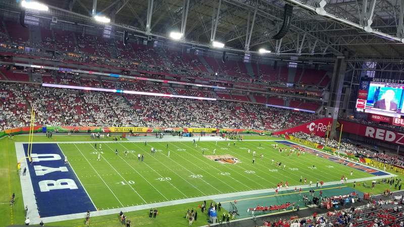 Seating view for University of Phoenix Stadium Section 418 Row A Seat 20