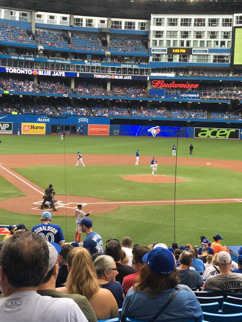 Seating view for Rogers centre Section 120R Row 28 Seat 7