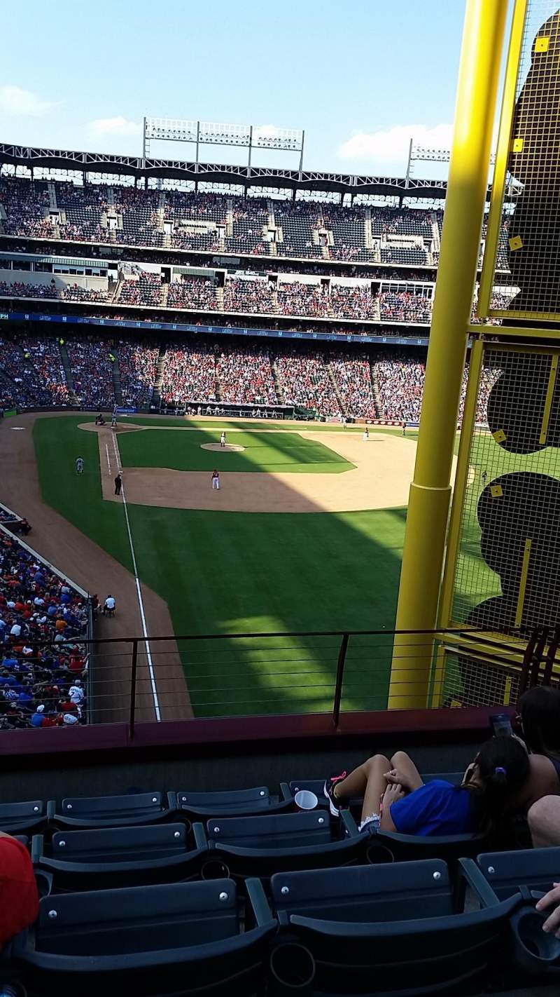 Seating view for Globe Life Park in Arlington Section 245 Row 7 Seat 4