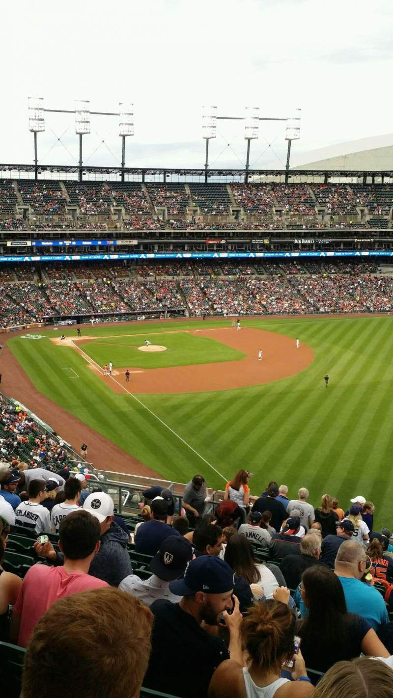 Seating view for Comerica Park Section 211 Row 18 Seat 7