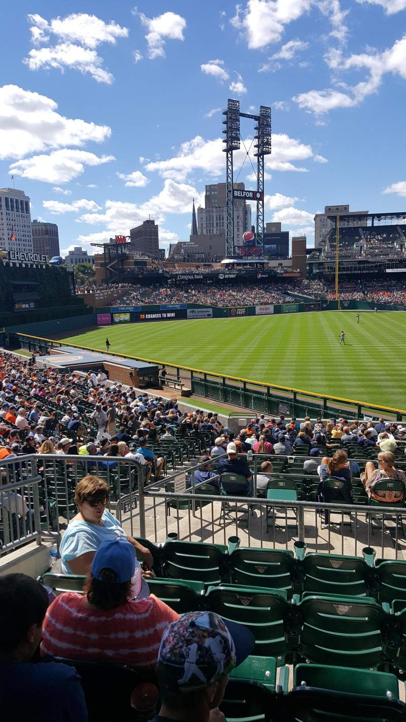 Seating view for Comerica Park Section 144 Row FF Seat 14