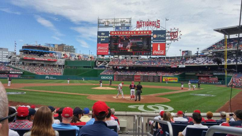 Seating view for Nationals Park Section Pcb Row K Seat 1
