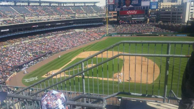 Seating view for Comerica Park Section 321 Row 2 Seat 1