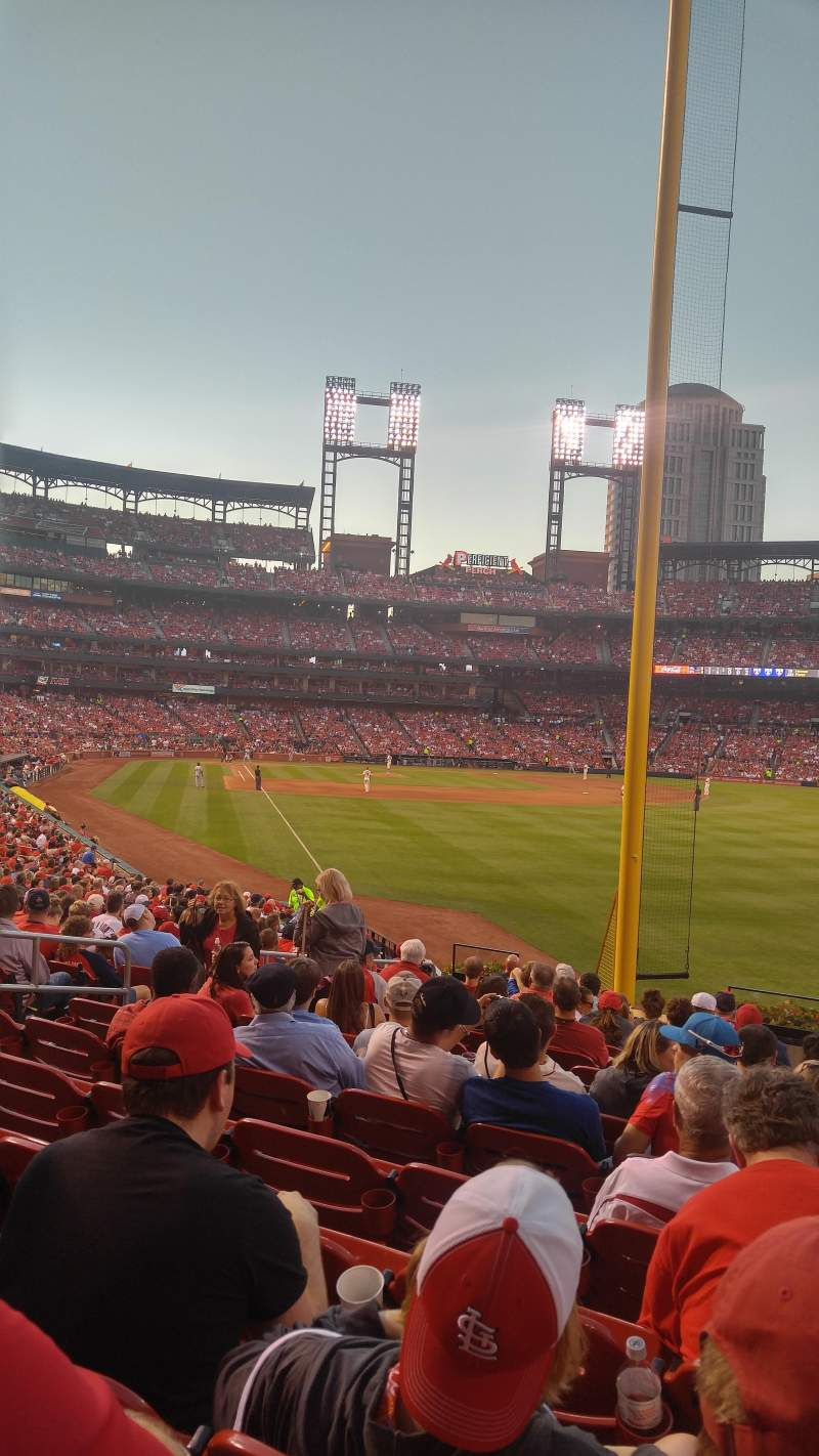 Seating view for Busch Stadium Section 130 Row 17 Seat 9
