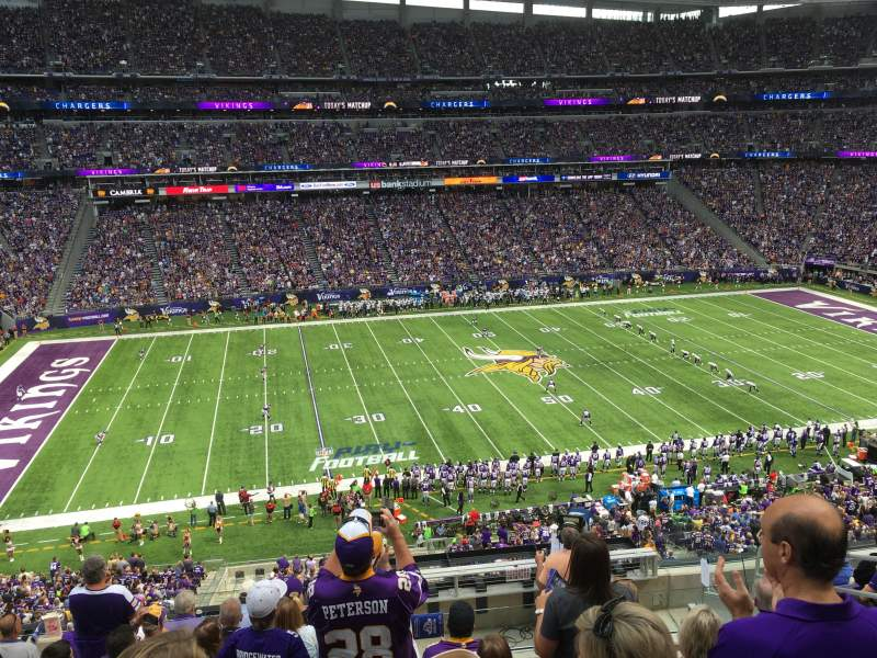 Seating view for U.S. Bank Stadium Section C10 Row 9 Seat 5