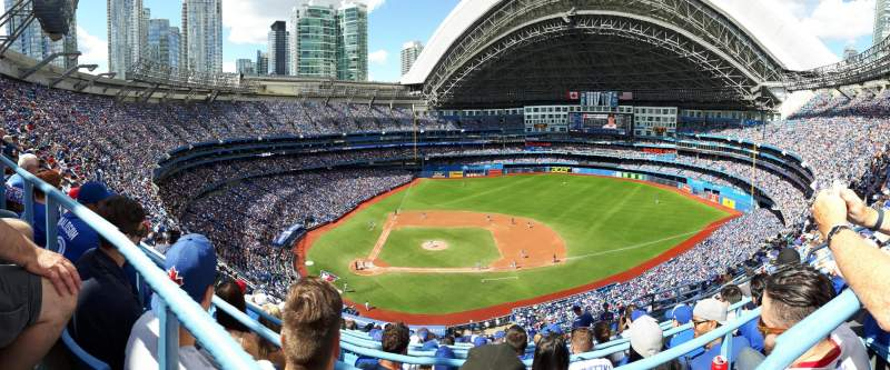 Seating view for Rogers Centre Section 519L Row 15 Seat 107