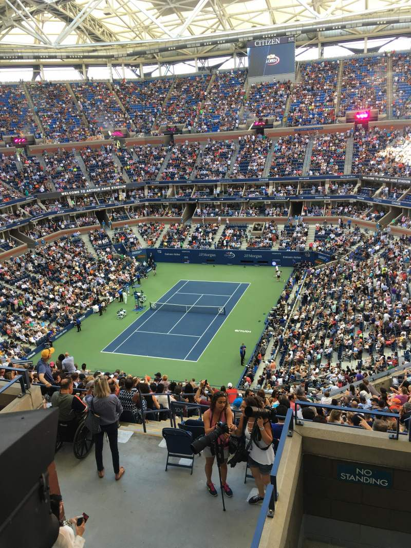 Seating view for Arthur Ashe Stadium Section 303 Row E Seat 5