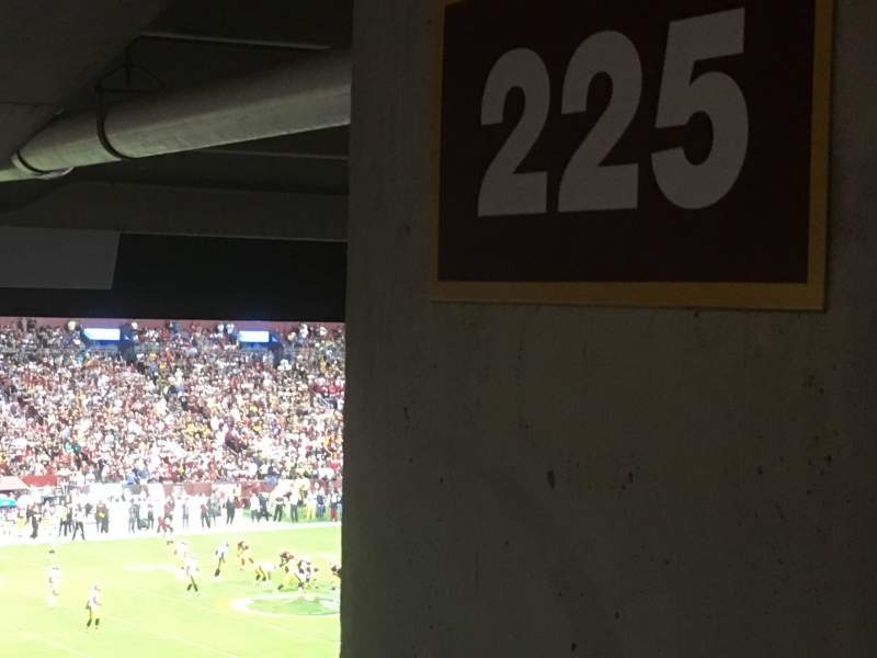 Seating view for FedEx Field Section 235 Row 15 Seat 16