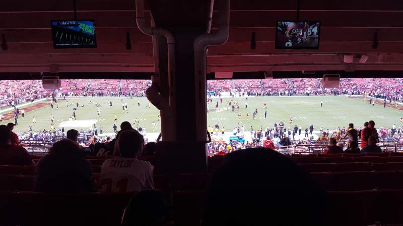 Seating view for FedEx Field Section 222 Row 20 Seat 14