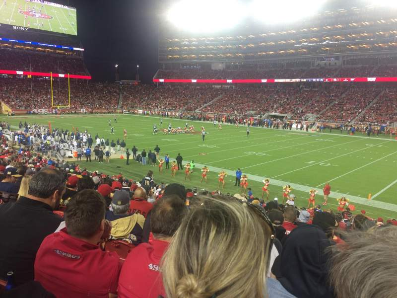 Seating view for Levi's Stadium Section 109 Row 23 Seat 9