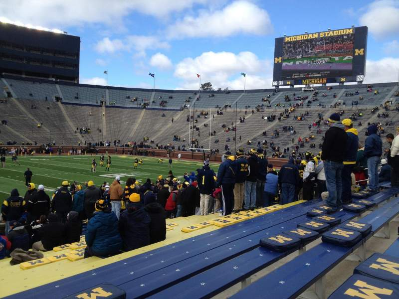 Seating view for Michigan Stadium Section 2 Row 22 Seat aisle seat