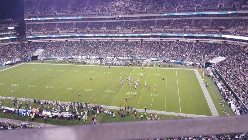 Seating view for Lincoln Financial Field Section 204 Row 1 Seat 7