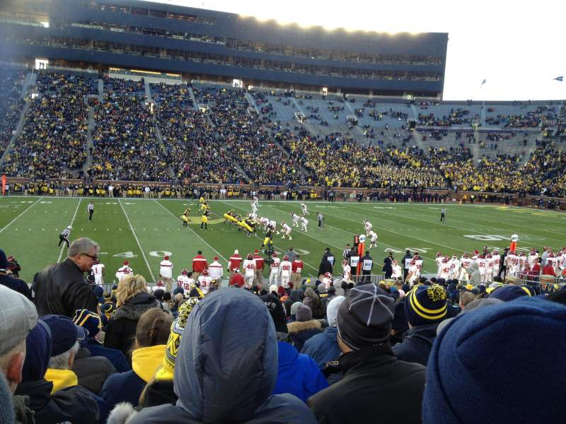 Seating view for Michigan Stadium Section 2 Row 22 Seat aisle