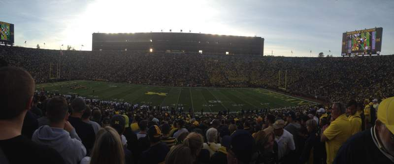 Seating view for Michigan Stadium Section 44 Row 48 Seat 11,12