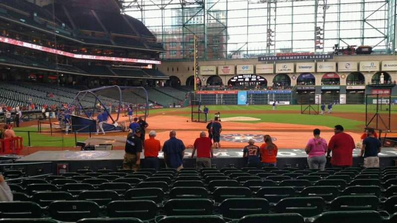 Seating view for Minute Maid Park Section 124 Row 15 Seat 6