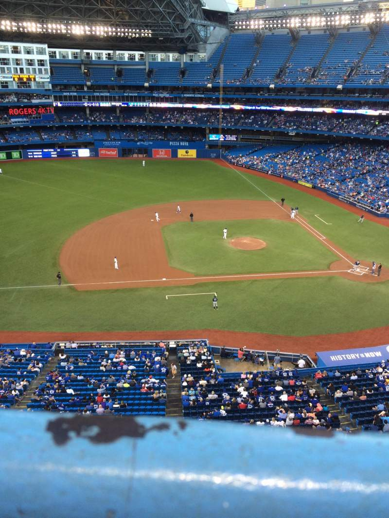 Seating view for Rogers Centre Section 530L Row 1 Seat 103