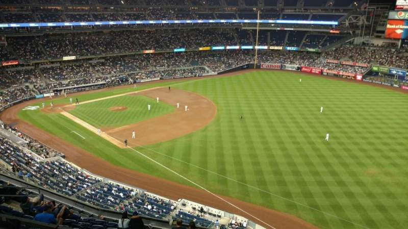 Seating view for Yankee Stadium Section 410 Row 1 Seat 7