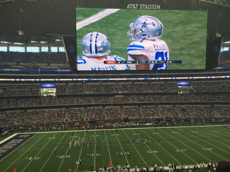 Seating view for AT&T Stadium Section 312 Row E Seat 7