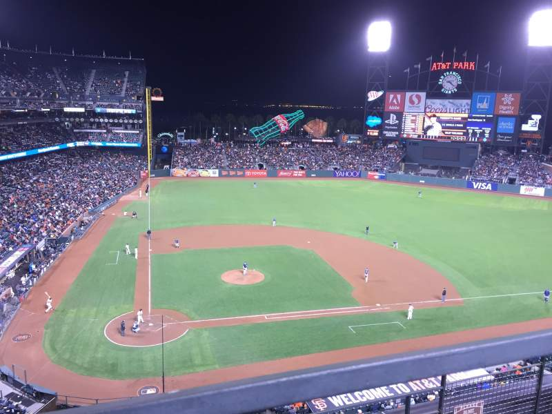 Seating view for AT&T Park Section 311 Row 1 Seat 4