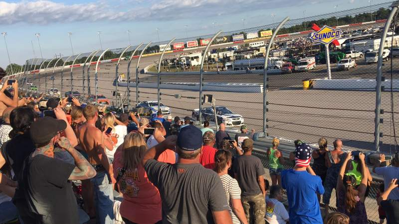 Seating view for Darlington Raceway Section Colvin V Row 12 Seat 8