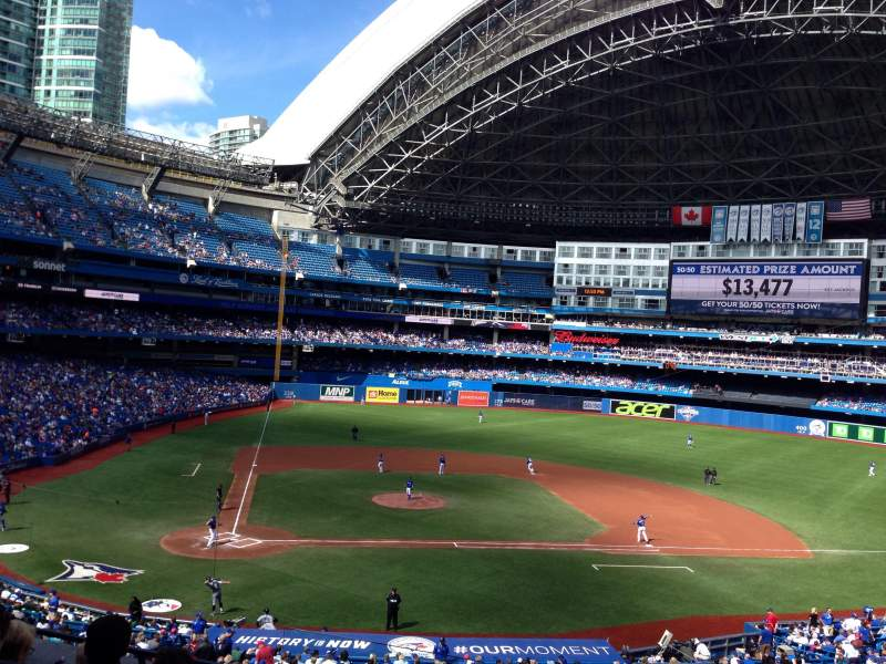 Seating view for Rogers Centre Section 221R Row 6 Seat 2