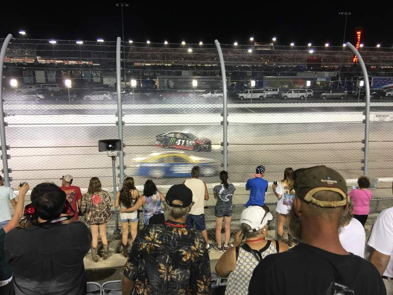 Seating view for Darlington Raceway Section Colvin V Row 12