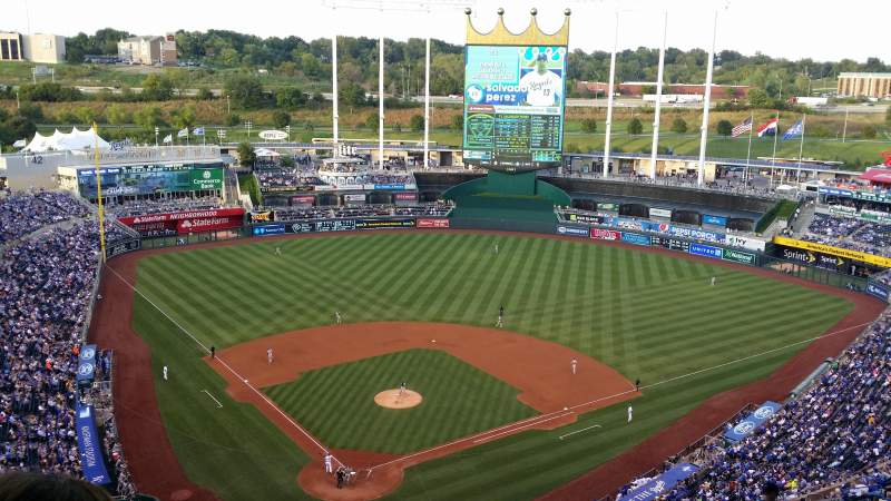 Seating view for Kauffman Stadium Section 421 Row TT Seat 26