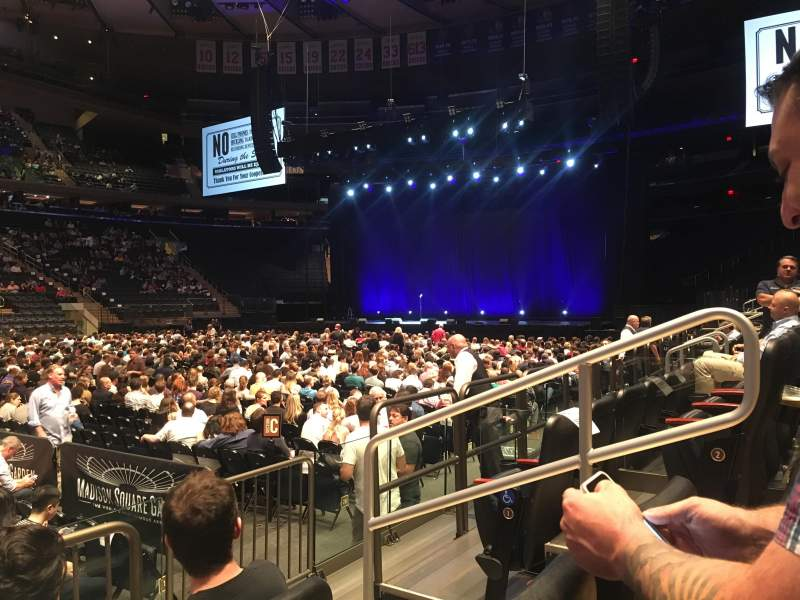 Seating view for Madison Square Garden Section 106 Row 3 Seat 15