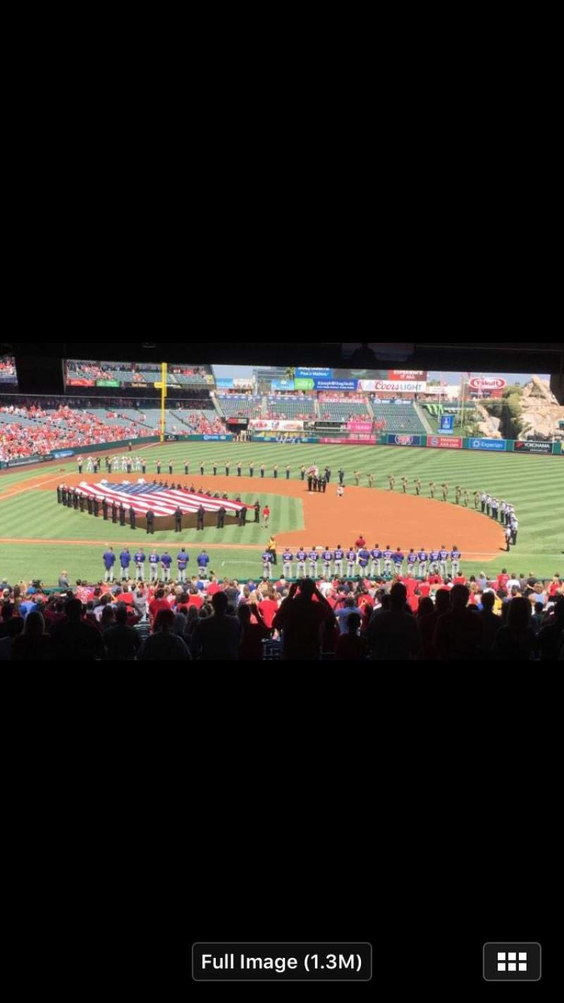 Seating view for Angel Stadium Section T228 Row E Seat 9-14