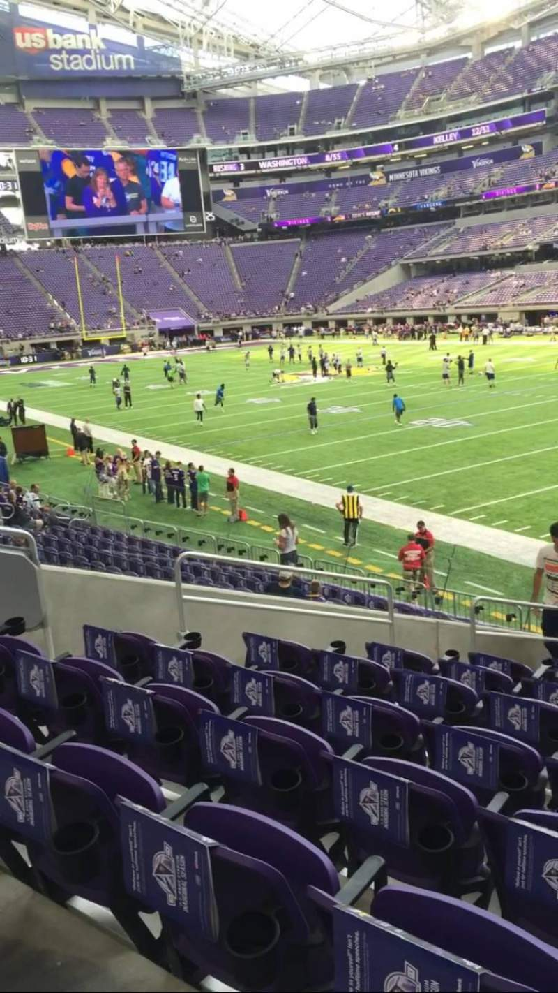 Seating view for U.S. Bank Stadium Section 103 Row 14 Seat 14
