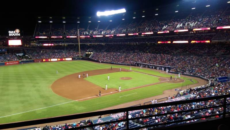 Seating view for Turner Field Section 316 Row 2 Seat 109