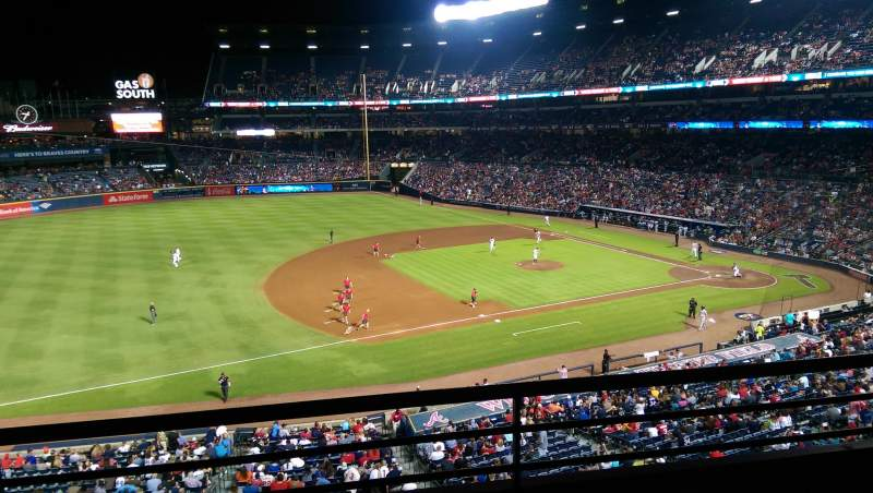 Seating view for Turner Field Section 316 Row 2 Seat 108