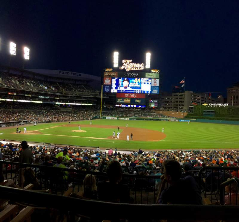 Seating view for Comerica Park Section 120A Row C Seat 2