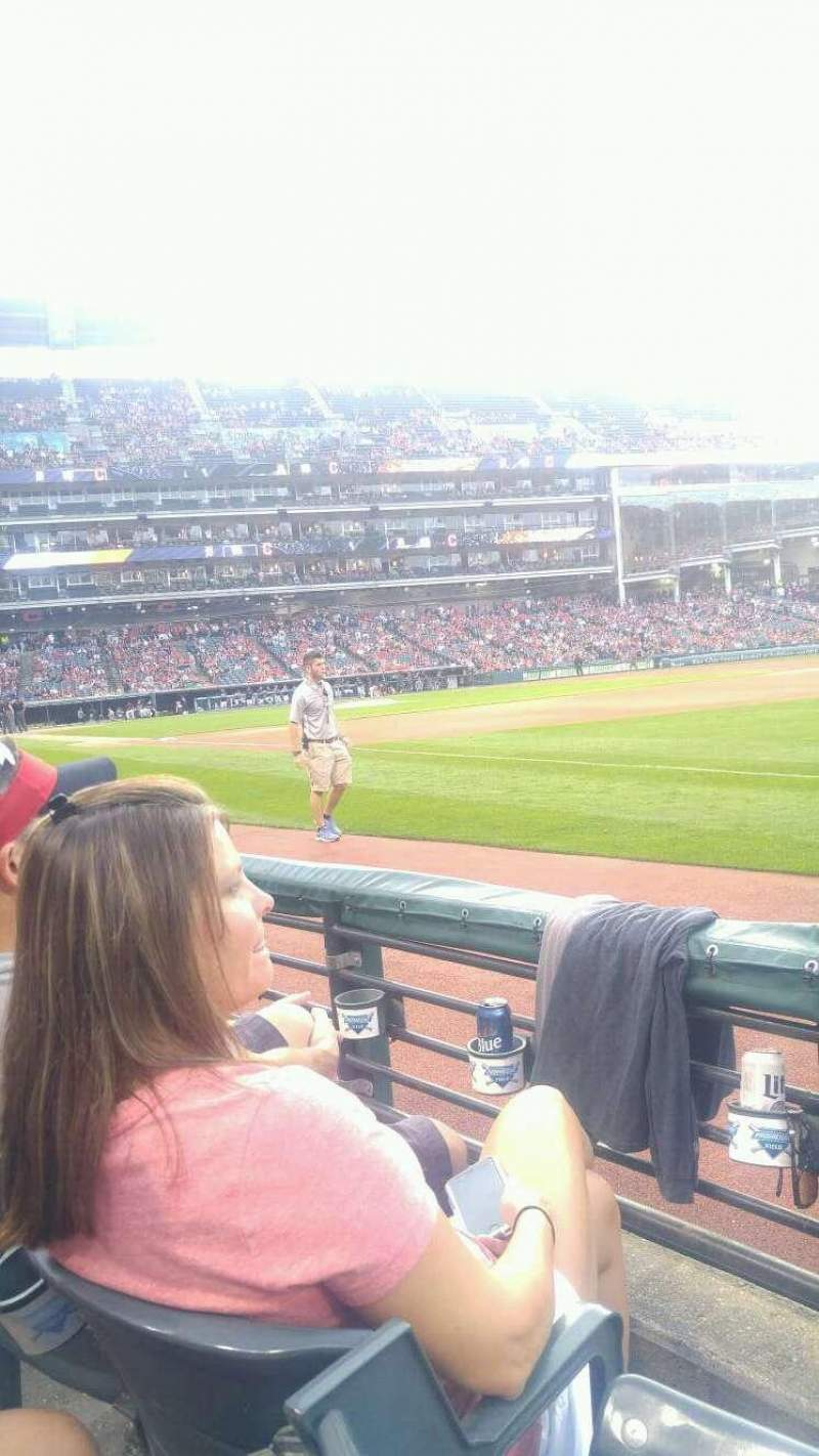 Seating view for Progressive Field Section 131 Row b Seat 8